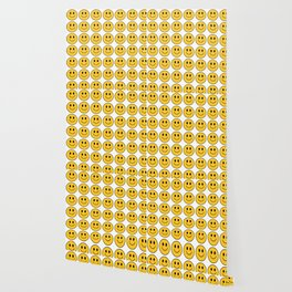 Smiley Face Pattern - White Background Variant Wallpaper
