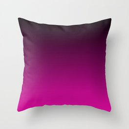 Black and Magenta Gradient Throw Pillow