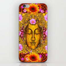 EXOTIC BUDDHA GOLD FACE FLORAL ART iPhone & iPod Skin