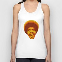 70s Tank Tops featuring 70s style Disco Afro by D-fens
