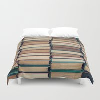 bookworm Duvet Covers featuring Bookworm by Laura Ruth