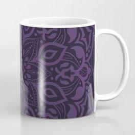 Elegant royal purple mandala - tone on tone Coffee Mug