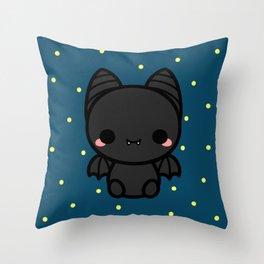 Cute spooky bat Throw Pillow