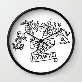 Vicious and Romantic Wall Clock