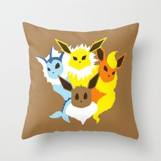 Pocket monster 133 to 136 Throw Pillow
