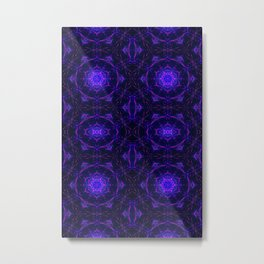 Psychedelic Mandala Pattern Metal Print