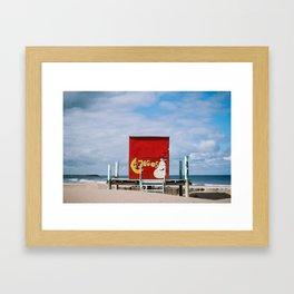 Beach kiosk Framed Art Print