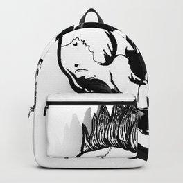 Anarchist skull art, custom gift design Backpack