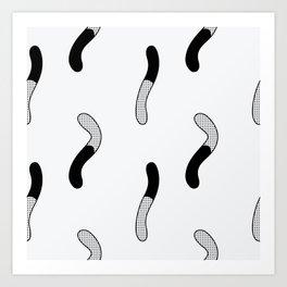 Gummy Worms Art Print