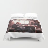 library Duvet Covers featuring Library by Galaxyspeaking
