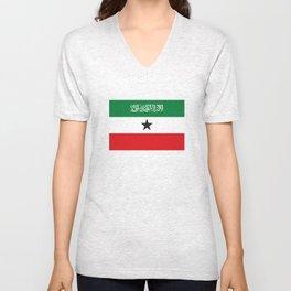 Somaliland republic flag somalia Unisex V-Neck