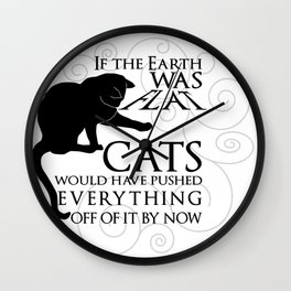 Cats on the Flat Earth Wall Clock