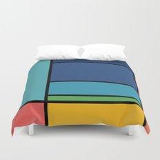 The Colors of / Mondrian Series - Ponyo- Miyazaki Duvet Cover