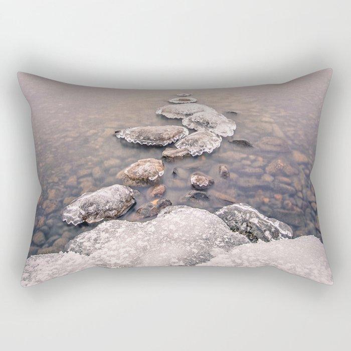 Frozen Path Rectangular Pillow
