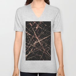 Copper Splatter 091 Unisex V-Neck
