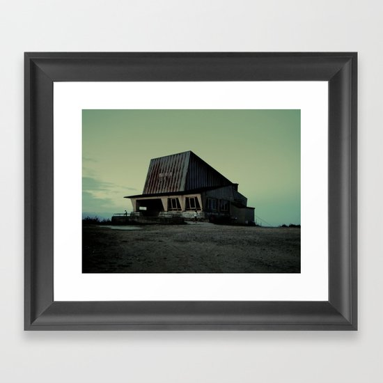 abandoned ski lift  Framed Art Print