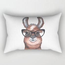 Hipster Llama Rectangular Pillow