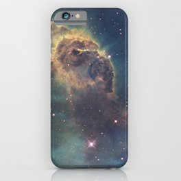 Stars and gas nebula in Universe iPhone Case