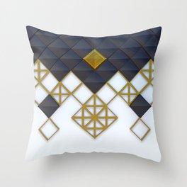 Light Dark and Gold 02 Throw Pillow