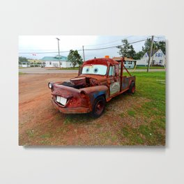 Tribute Build to Tow Mater Metal Print
