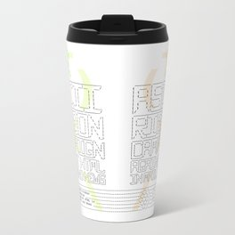 ASCII Ribbon Campaign against HTML in Mail and News – White Metal Travel Mug