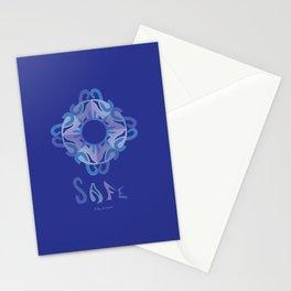"SAFE Mandala with ""SAFE"" - Blue Blue Stationery Cards"