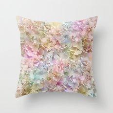 Pastel Hydrangeas Throw Pillow