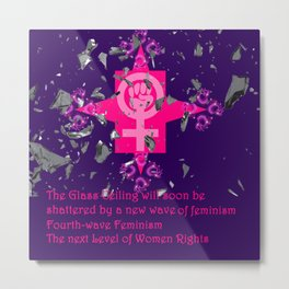 Fourth-Wave Feminism - The Next Level Metal Print