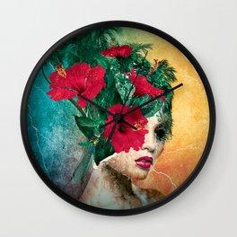 Broken Beauty II Wall Clock