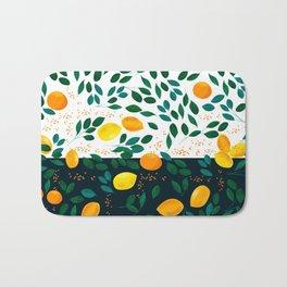 Lemon Orange Bath Mat