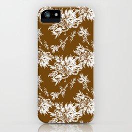 Brown Seaweed Pattern iPhone Case