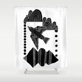 Creative Soar - Flying Bird Illustration Shower Curtain