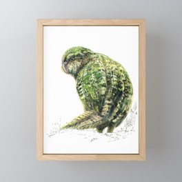 Mr Kākāpō Framed Mini Art Print
