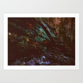 Forest Wall Dark Fairy Landscape Art Print