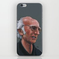 larry iPhone & iPod Skins featuring Larry David by Micah Krock
