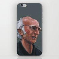 larry david iPhone & iPod Skins featuring Larry David by Micah Krock