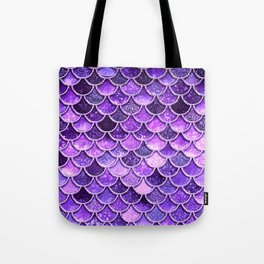 Pantone Ultra Violet Glitter Ombre Mermaid Scales Pattern Tote Bag