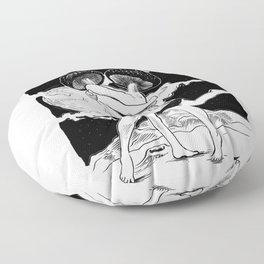 Trip On Mars Floor Pillow