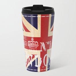 Union Jack Great Britain Flag Travel Mug