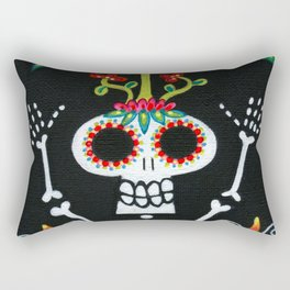 Happy Skelly with Tree Rectangular Pillow