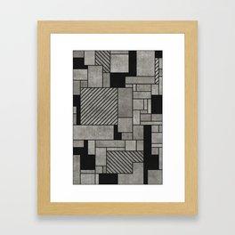 Random Concrete Pattern Framed Art Print