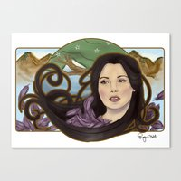regina mills Canvas Prints featuring regina nouveau by raynall