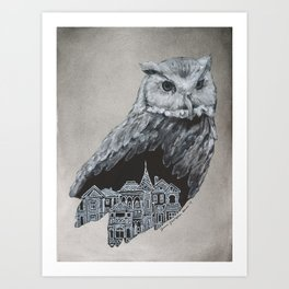 The Night Owl Art Print