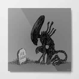 Alien • Goodbye • H. R. Giger Metal Print