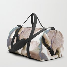 Egyptian goose and gosling Duffle Bag
