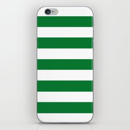 La Salle green - solid color - white stripes pattern iPhone Skin