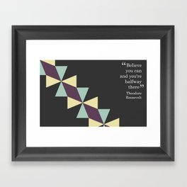 Oragami Traingles Framed Art Print