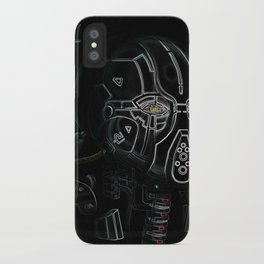 Glitchmask Zone iPhone Case
