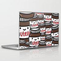 nutella Laptop & iPad Skins featuring Nutella Love by Pink Berry Patterns