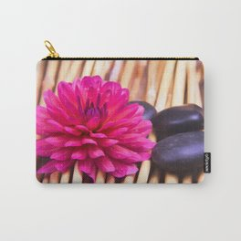 Zen Stones And Dahlia Carry-All Pouch